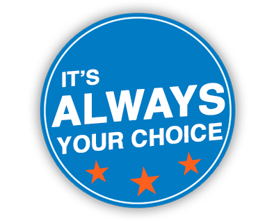 It's Always Your Choice Blue Logo D-Patrick